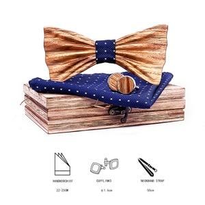 Image 2 - Zebra Ahşap El Yapımı 3D Ahşap papyon s Erkekler için Kaliteli erkek kravat Ahşap Papyon 3D El Yapımı Kelebek Ahşap papyon gravata hediye