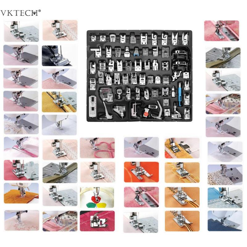 32 62pcs Domestic Sewing Machine Foot Presser Feet For Brother Singer Janome Presser Feet Braiding Blind Stitch Darning Access