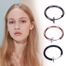 1pcs alloy Women Invisible without Pierced Hoops Clip-on