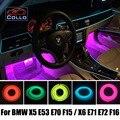 Для BMW X6 E71 E72 X5 E53 E70 F15 F16/Украшения Автомобиля холодный Свет Атмосфера Лампа/9 М EL Провода Консоли Автомобиля Декоративные Полосы