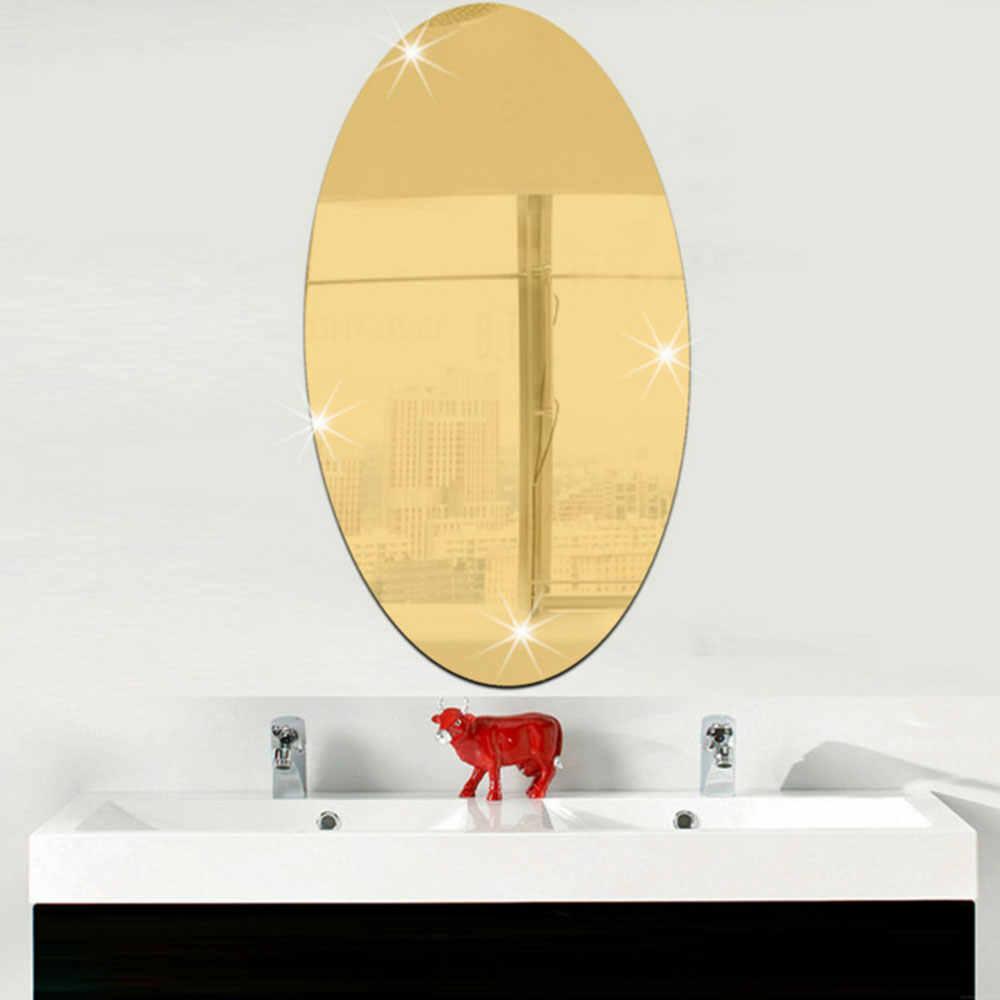 27*17 см серебряные золотые обои настенные наклейки 3D Зеркальные прямоугольные