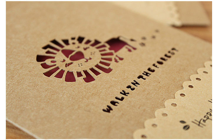 free shipping hollow retro cards korea creative handmade