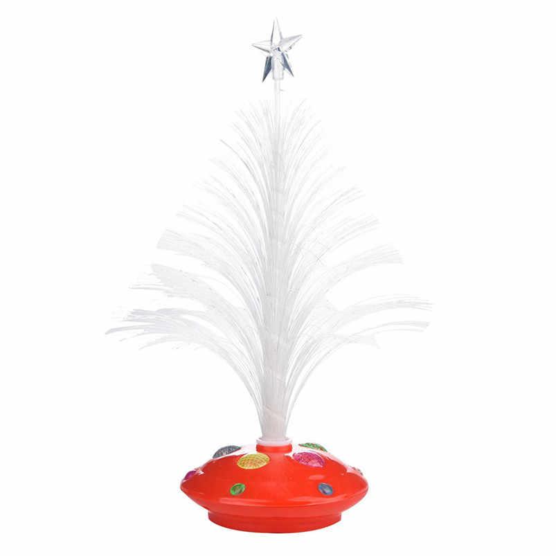 Nouveau LED coloré changeant Mini arbre de noël décoration Table fête charme bureau décorations cadeau pour la décoration de la maison #4o26 # f