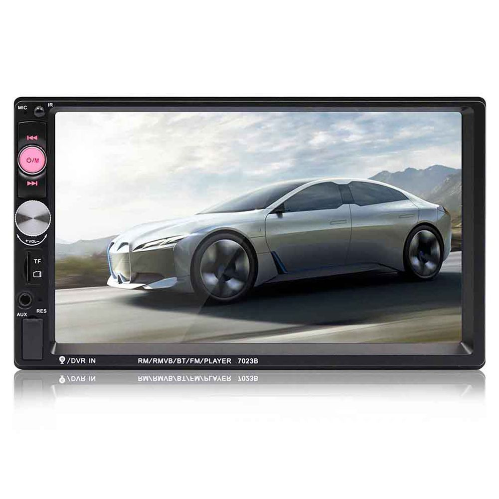 7023B 2 Din Car Multimedia Audio Player Stereo Radio 7 inch Touch Screen HD MP5 Player Support Bluetooth FM Camera SD USB Aux 7 inch hd 2 din bluetooth car mp5 player stereo audio fm radio touch screen support aux usb tf phone auto rearview camera