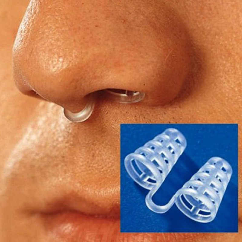 2PCS Professional Anti Snoring Device Anti Snore Nose Clip Relieve Snoring Snore Stopping Health Care For Men Women #85185