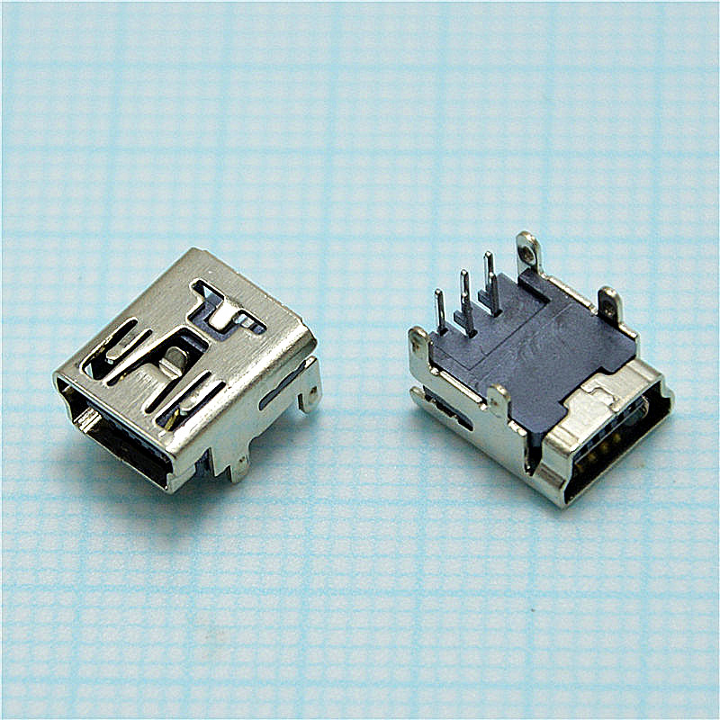 mini usb connector 90 degrees 4P Micro USB 5pin B type Female Connector For Mobile Phone Micro USB Jack Connector 5 pin connector rm15wtpza 4p 71