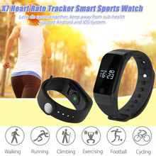 X7 умный Браслет Bluetooth 4.0 спортивные Смарт Часы Heart Rate Мониторы Температура Давление Мониторы напоминание умный Браслет