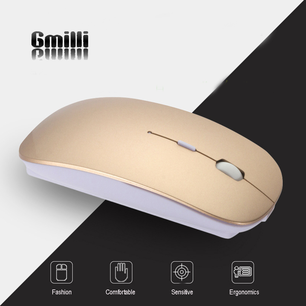 Gmilli 1600DPI Optical Bluetooth Wireless Mouse for Macbook Air Pro Win10/Mac Laptop Computer Tablet PC