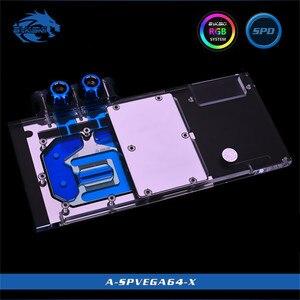 Bykski couverture complète GPU bloc d'eau pour VGA saphir RX Vega 64 8G HBM2 carte graphique A-SPVEGA64-X
