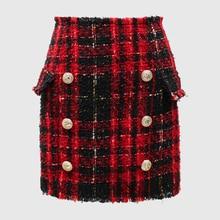 ปุ่มสีลายสก๊อต Wool Designer MINI