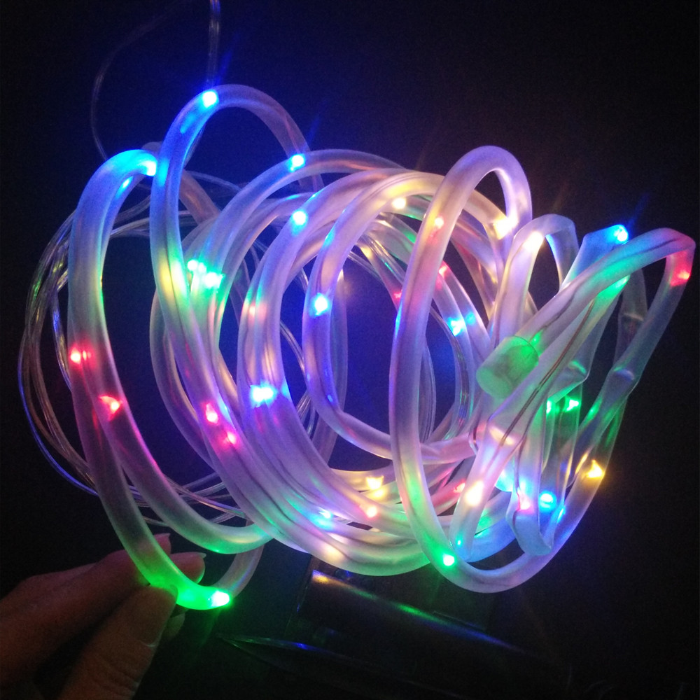 Yiyang outdoor solar led string lights outdoor solar rope tube led yiyang outdoor solar led string lights outdoor solar rope tube led string solar powered fairy lights for garden fence landscape in led string from lights mozeypictures Images