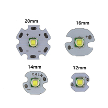 1 sztuk XML XM L1 T6 LED U2 10W biały wysokiej dioda LED dużej mocy emiter z 12mm 14mm 16mm 20mm PCB dla DIY latarka lampa czołowa LED
