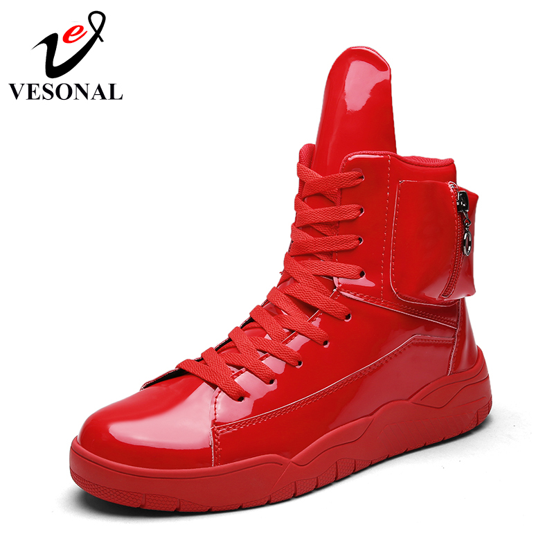 Sneakers 2018 Black Populaire Boots Hiver white Adulte Mâle Chaussures Martin Bottes red Cuir Boots En mollet Pu Hommes Boots Pour Imperméables Marche Travail Mi Vesonal Stq6xHwaO6