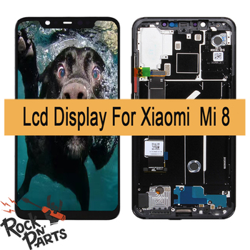 NEW Amoled For Xiaomi Mi 8 LCD Display Touch Screen Digitizer Assembly For Xiaomi Mi8 Display With Frame Screen Replacement