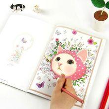 80 pages Secret Garden classic coloring book sales collection Colorful Jetoy cute cat coloring classic album