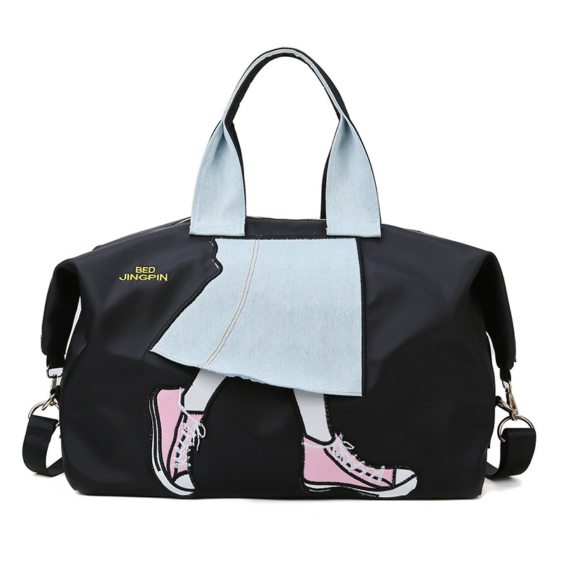 Railroad Sports Travel Drum bag Gym Bag for Men Women with Compartment