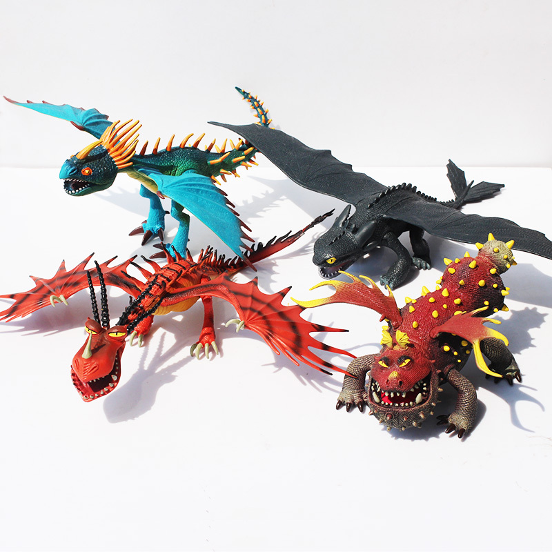 Anime Cartoon How to Train Your Dragon 2 Dragon Toothless Night Fury Action Figure PVC Doll 4 Different Styles 25-37cm 7pcs 8pcs a set how to train your dragon 2 action figure toys night fury toothless gronckle deadly nadder dragon toys for boys