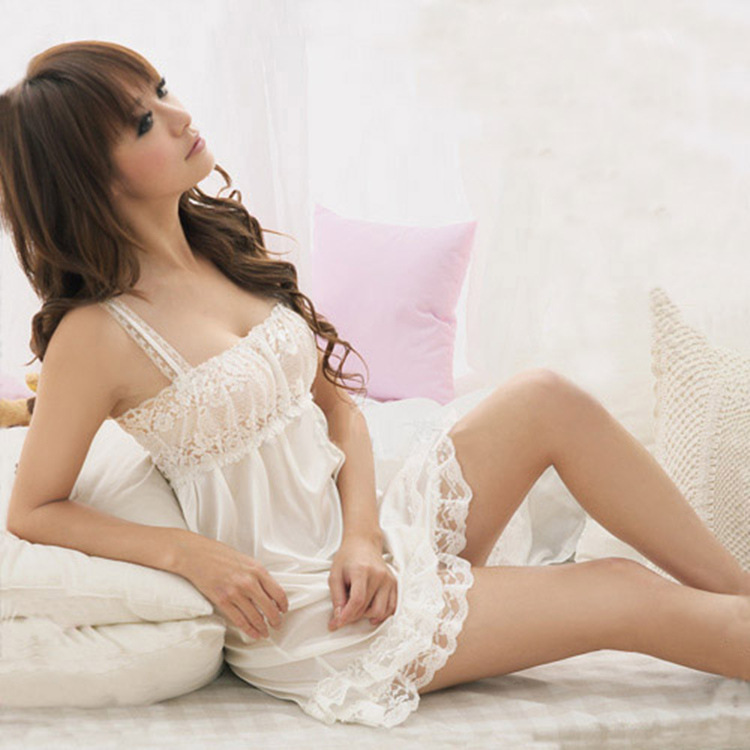 696230415c Related Products. Sexy Nightgowns Sleepshirts Sleepwear Women Night Dress  Lace Embroidery Sexy Lingerie ...