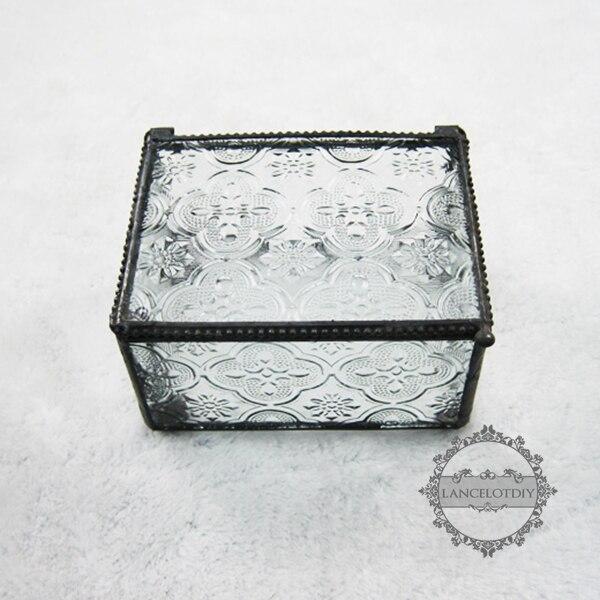 10.5*8.6*6.5cm geometric cut glass jewelry box air plant planter glass terrarium flower arrangement indoor gradening  0100041