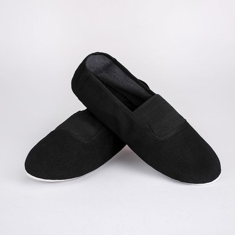 USHINE EU22-45 Black Upgrade Body-shaping Gym Teacher Fitness Yoga Ballet Dance Shoes Girls Woman Ballet Shoes Canvas Woman Man