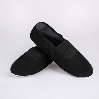 USHINE EU22-45 Black Upgrade Body-shaping Gym Teacher Fitness Yoga Ballet Dance Shoes Girls Woman Ballet Shoes Canvas Woman Man фото