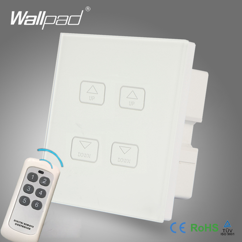 Hot Sales Wallpad White Crystal Glass LED Light Wireless Remote 4 Gang 2 3 Way Dimming