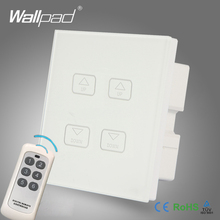Hot Sales Wallpad White Crystal Glass LED Light Wireless Remote 4 Gang 2/3 Way Dimming Touch Screen Dimmer Wall Light Switches