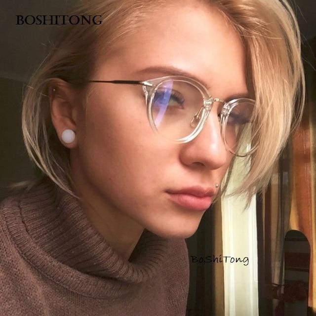 08636a91fc 2018 Fashion Women Glasses Frame Men Eyeglasses Frame Vintage Round Clear  Lens Glasses Optical Spectacle Frame