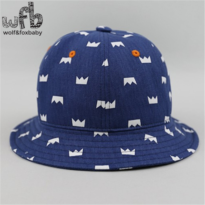 352f8da2c3042b Retail 50CM round sun cap printing Crown Cowboy hat baby children infant  kids spring autumn fall-in Hats & Caps from Mother & Kids on Aliexpress.com  ...