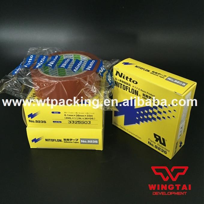 3 Rolls Nitto Denko Tape 923S Special Reinforcement Film PTFE NITOFLON Tape T0.10mm*W38mm*L33m t0 10mm w38mm l33m nitto denko heat sealing machine use heat resistant tape 923s