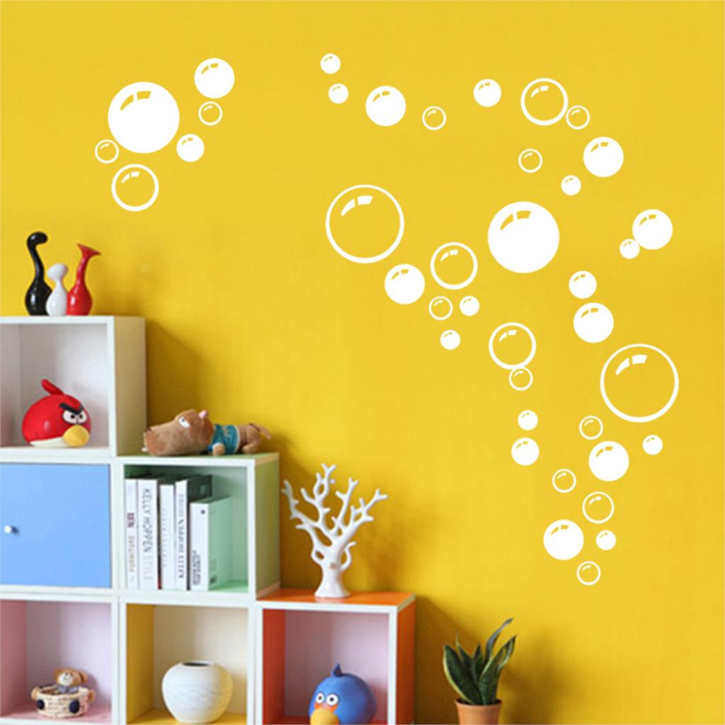 Lovely Bubble Wall Art Bathroom Window Shower Tile Decoration Decal ...