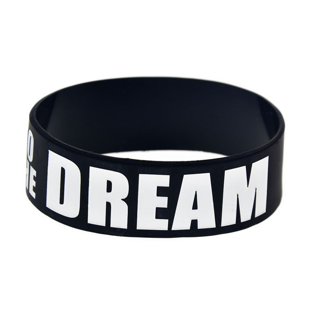 OneBandaHouse 1PC 1 Inch Wide Road to The Dream Motivation Silicone Wristband