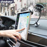 Cobao Windshield Car Tablet Holder Long Arm Gooseneck Car Mount Tablet 9.5 14.5 Inch Flexible Tablet for iPad 1 2 3 4 Air Pro