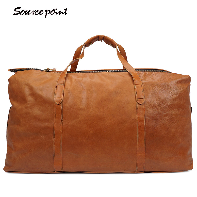 SOURCE POINT Men Fashion Large Travel Bag Package Large-Capacity Portable Shoulder Leather Duffel Bag Men Travel Bags YD-8002 safebet brand high quality pu leather handbags for men large capacity portable shoulder bags men s fashion travel bags package