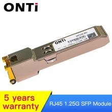 1.25G  RJ45 Copper SFP Transceiver Module Compatible with Cisco/Mikrotik GLC-T/SFP-GE-T 1000Base-T Ethernet FTTH Fibra Optical 1