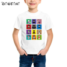 Batman kids t-shirts illustration Print Tee Tops For Boys Cartoon Boy Tshirts Fashion Kids Tshirt Clothes