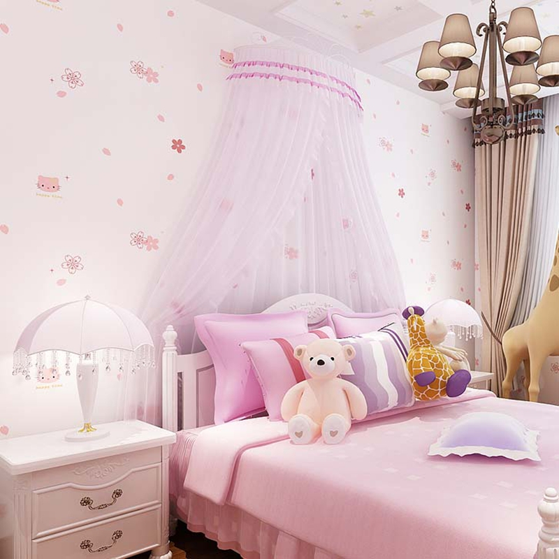 Japanese Bedroom Wallpaper Girls Bedroom Blinds Bedroom Decorating Colour Ideas Minion Bedroom Accessories: 10M Girls Children's Bedroom Background Cute Hello Kitty