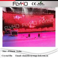Stage used led curtain display video screen high pixel led curtain price P5cm 4x1m