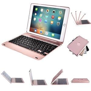 Image 1 - Тонкий Портативный беспроводной Bluetooth клавиатура с жестким чехол для Apple iPad Air / Air 2 / Pro 9,7  / 2017 / 2018 новый iPad 9,7