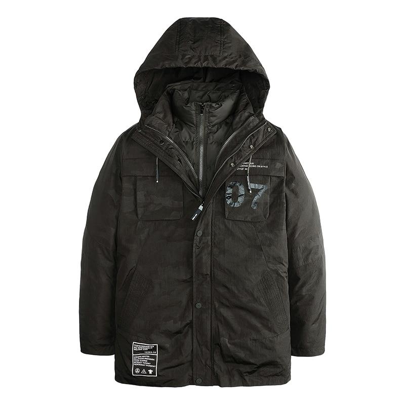 2017 New Long Down Jackets Male Smart Casual Thicken Warm Winter Jacket Men Brand Clothing Zipper Hooded Parka 2782