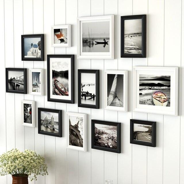 Tienda Online Pastoral estilo caqui cian pared marco de madera foto ...