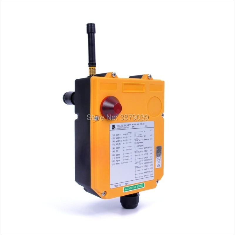 TELECRANE промышленный беспроводной радио двойная скорость 8 uttons F24 8D пульт дистанционного управления (1 передатчик + 1 приемник) для крана - 5