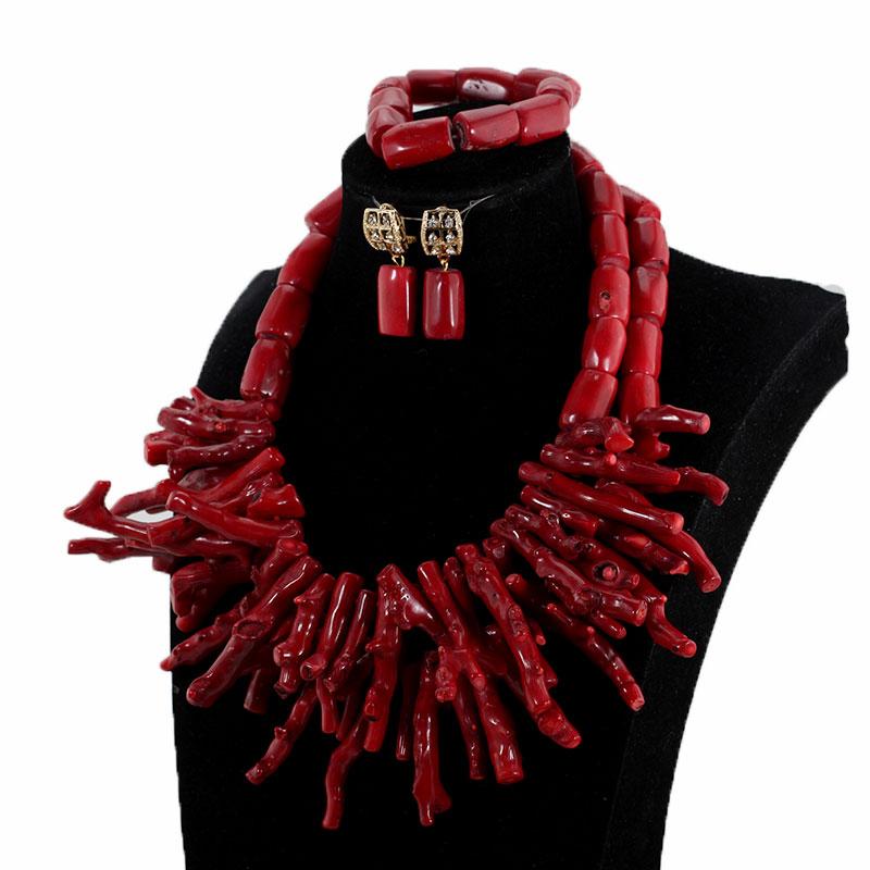 HTB10 MFlgLD8KJjSszeq6yGRpXal African Nigerian Wedding Coral Beads Jewelry Set Green Chunky Beads Statement Necklace Set Baroque Style CNR035