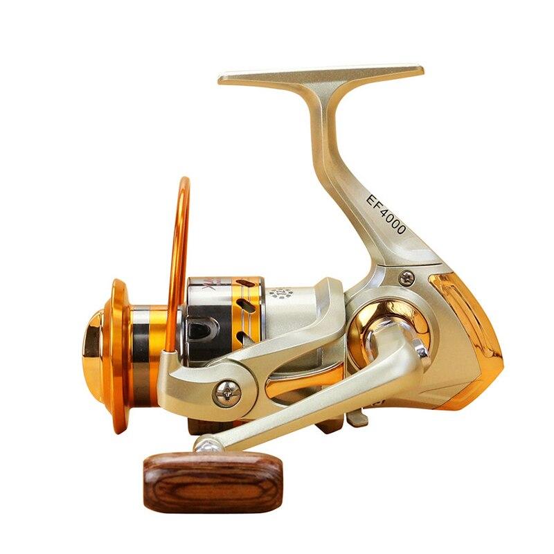 500-9000 série Lointain Roue En Métal Spinning Reel Fishing 5.5: 1 12 Roulements À Billes De Pêche Roue Tourner la bobine De Pêche bobine