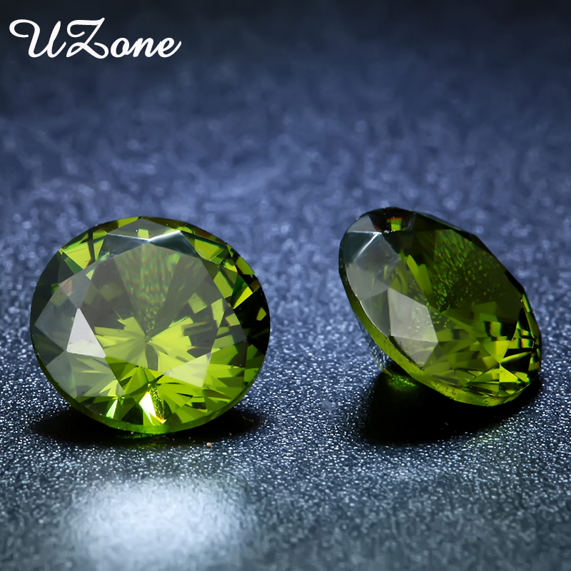 8MM AAAAA Round Cut CZ Stone Olivine Birthday Stone August Cubic Zirconia Synthetic Gems stone Jewelry Accessories