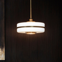 Chandelier Post modern Luxury Golden Restaurant Glass Bedside Lamp The Study Pendant Lights Creative Home Lamp Nordic Style