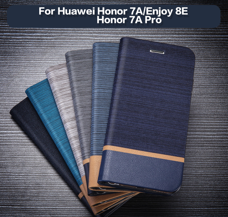 Pu Leather Wallet <font><b>Case</b></font> For Huawei <font><b>Honor</b></font> <font><b>7A</b></font> Pro Business Phone <font><b>Case</b></font> For Huawei <font><b>Honor</b></font> <font><b>7A</b></font> Flip Book <font><b>Case</b></font> Soft <font><b>Silicone</b></font> Back Cover image