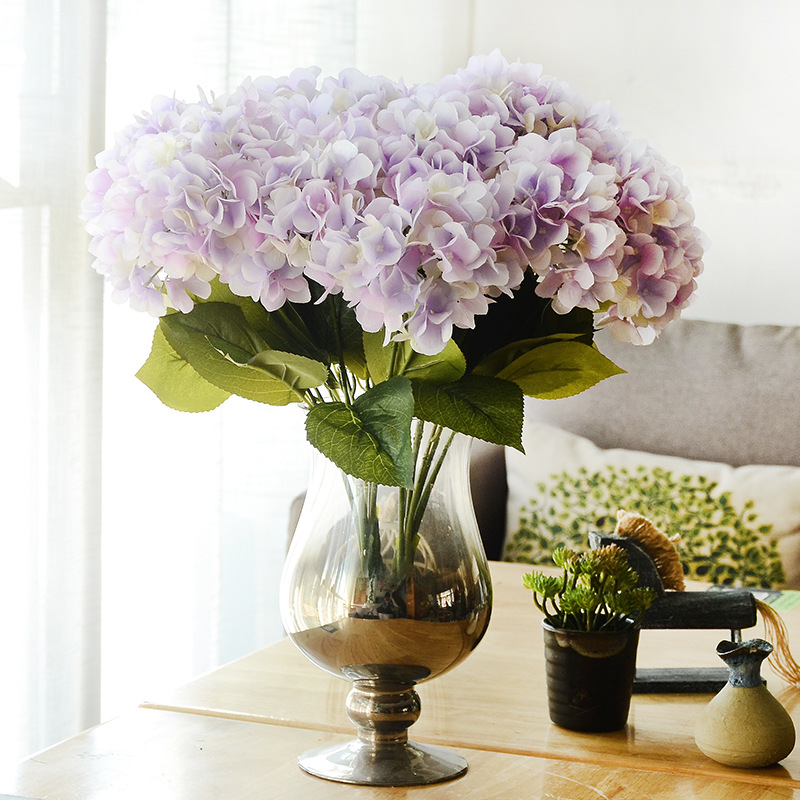 Artificial Flowers Hydrangea Bouquet for Wedding Party Home ...