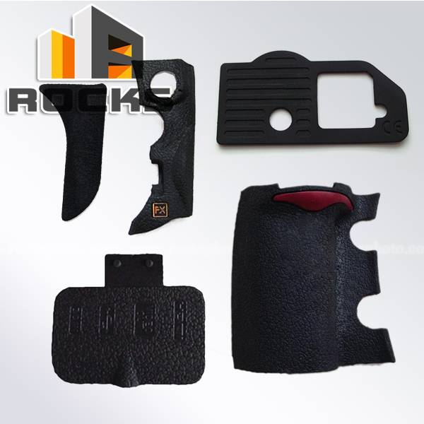 Body Front Back Bottom Terminal Grip Set <font><b>Rubber</b></font> Cover Replacement Part suit For <font><b>Nikon</b></font> <font><b>D700</b></font> Digital Camera DIY Repair image