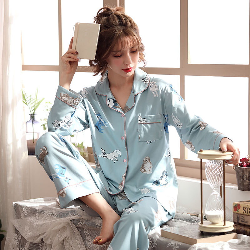 Women Clothes for Autumn winter Pajamas Sets O-Neck Sleepwear Lovely Rabbit Pijamas Mujer Long Sleeve Cotton Sexy Pyjamas Female 80